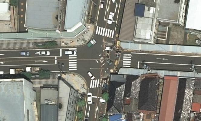 柏崎市東本町 航空写真