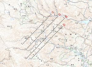 図-5 DMC標定図(2008年6月15日撮影)