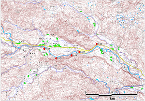 図-2 斜め写真標定図(2008年6月14~15日撮影)