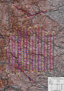図-4 写真標定図(2008年6月15~16日撮影)