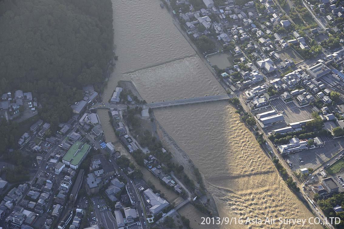 桂川地区 斜め空中写真_1