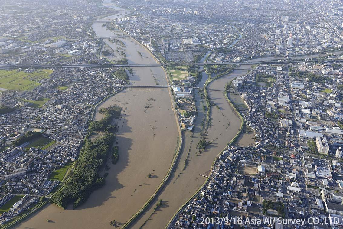 桂川地区 斜め空中写真_3