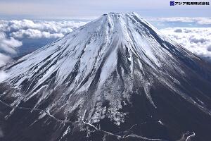 富士山スラッシュ雪崩 斜め空中写真_7
