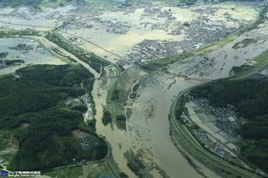 「平成30年7月豪雨」(西日本豪雨) 斜め空中写真_2