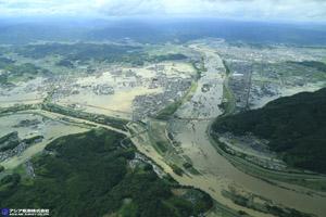 「平成30年7月豪雨」(西日本豪雨) 斜め空中写真_3