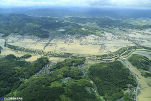 「平成30年7月豪雨」(西日本豪雨) 斜め空中写真_5
