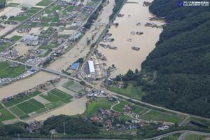 「平成30年7月豪雨」(西日本豪雨) 斜め空中写真_12