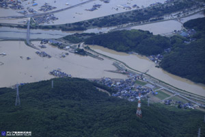 「平成30年7月豪雨」(西日本豪雨) 斜め空中写真_15