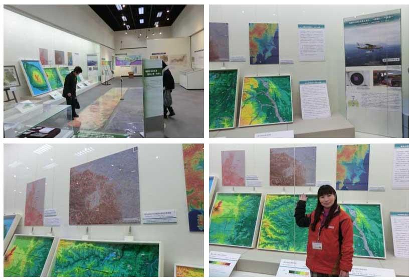赤色立体地図の展示